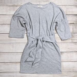 Gray lined Sweater Dress